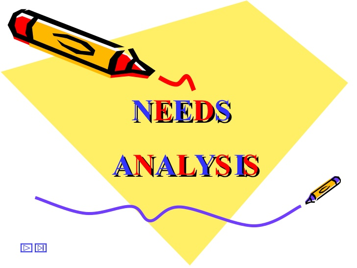TRAINING TENTANG NEEDS ANALYSIS and TRAINING EVALUATION